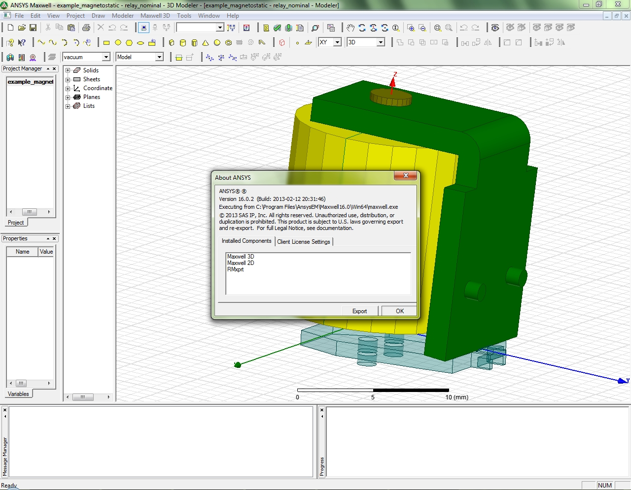 ANSYS Maxwell (64bit) 16.02