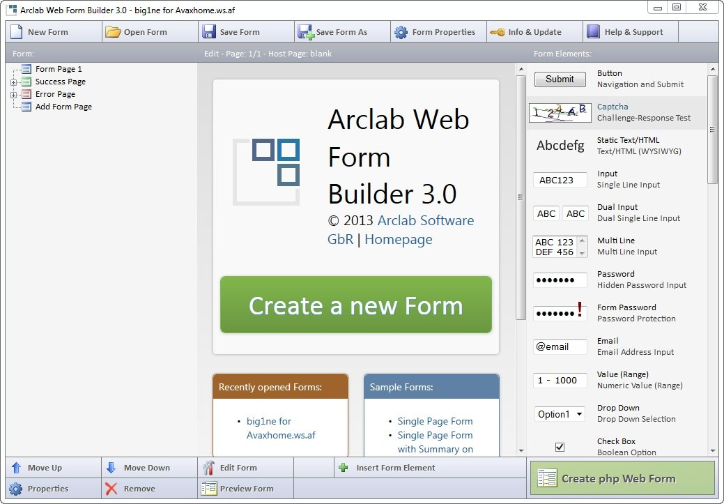 Arclab Web Form Builder 3.0