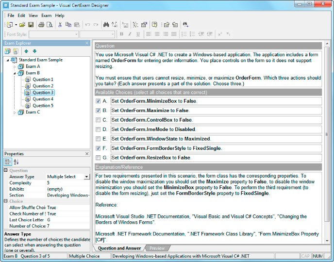 Visual CertExam Suite 3.4.2