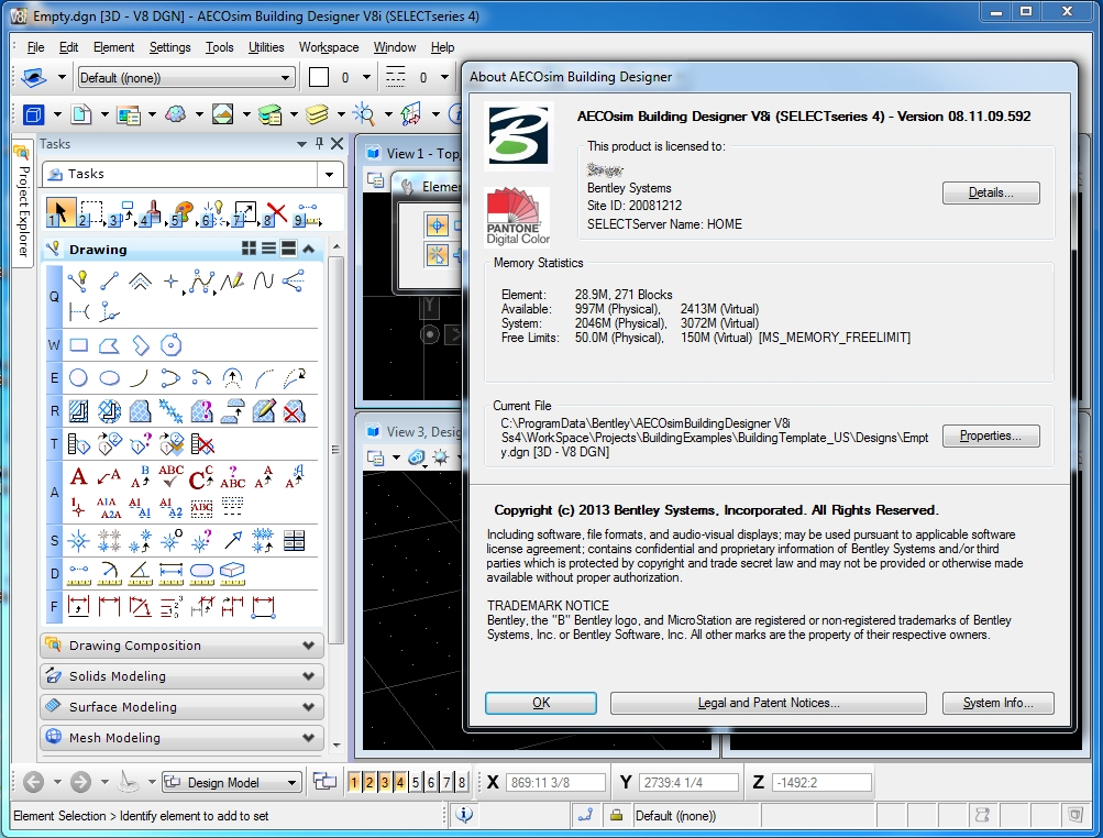 Bentley AECOsim Building Designer V8i (SELECTSeries 4) 8.11.09.592