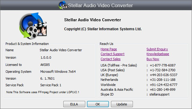 Stellar Audio Video Converter 1.0