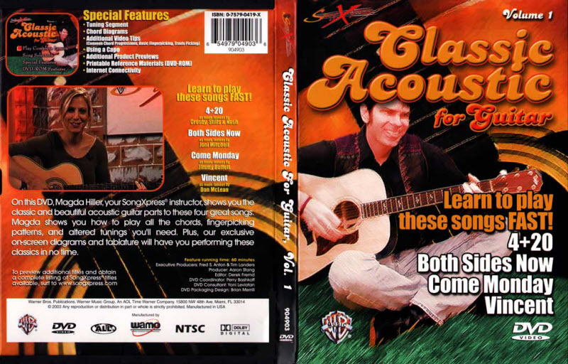 古典吉他教学PDF+视频V1 SongXpress - Classic Acoustic For Guitar - V1 - DVD (2003)