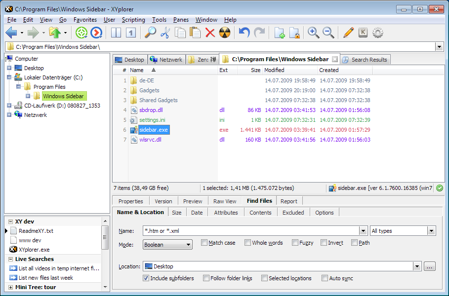 XYplorer 14.80.0200 Multilingual + Portable 多标签文件管理器