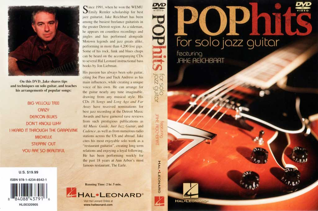 Hal Leonard - Jake Reichbart Plays: - Pop Hits for Solo Jazz Guitar - DVD - (2010)[repost]