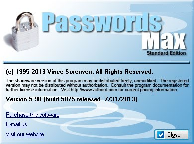 Passwords Max 5.90 Build 5875