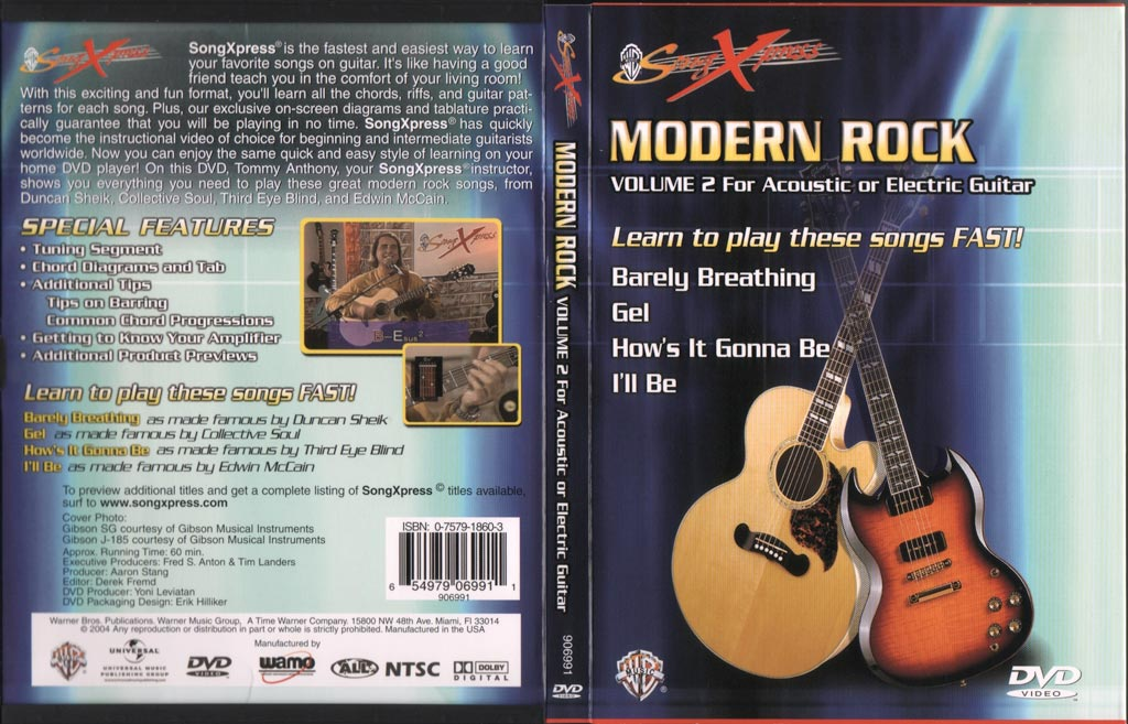 现代摇滚吉他教程V2 SongXpress - Modern Rock For Guitar - V2 - DVD (2004)