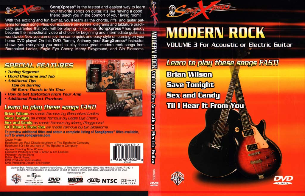 SongXpress - Modern Rock For Guitar - V3 - DVD (2004)