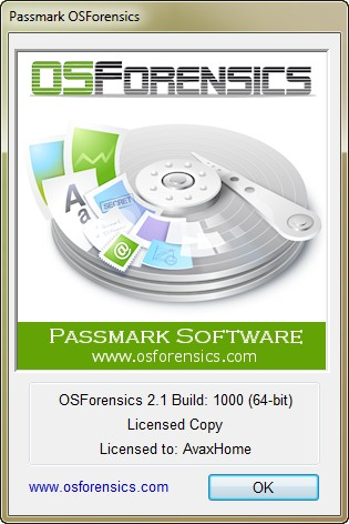 PassMark OSForensics Professional 2.1 Build 1000