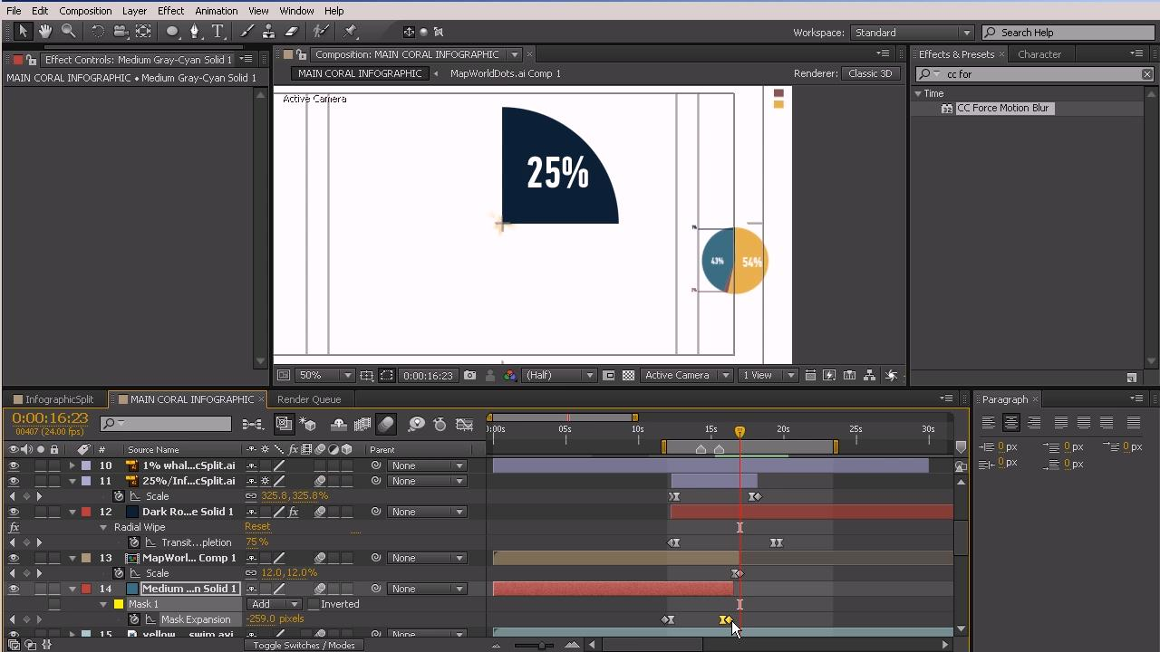 Dixxl Tuxxs - Animating an Infographic in After Effects