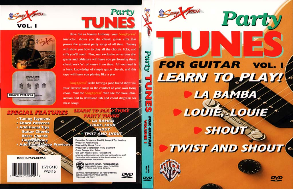 Party Tunes吉他教程V1 SongXpress - Party Tunes For Guitar - V1 - DVD (2001)