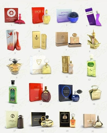 3ddd Perfume Collection