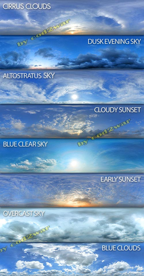 Exterior Seamless Skies Panoramic Textures