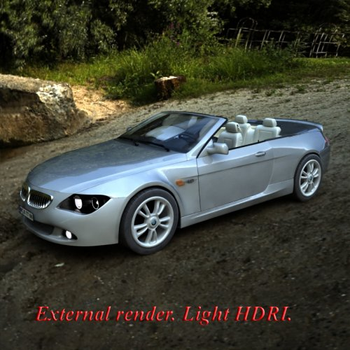 Renderosity Daz/Poser - Convertible car + V4 car poses