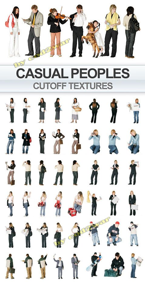 Casual Peoples on transparent background