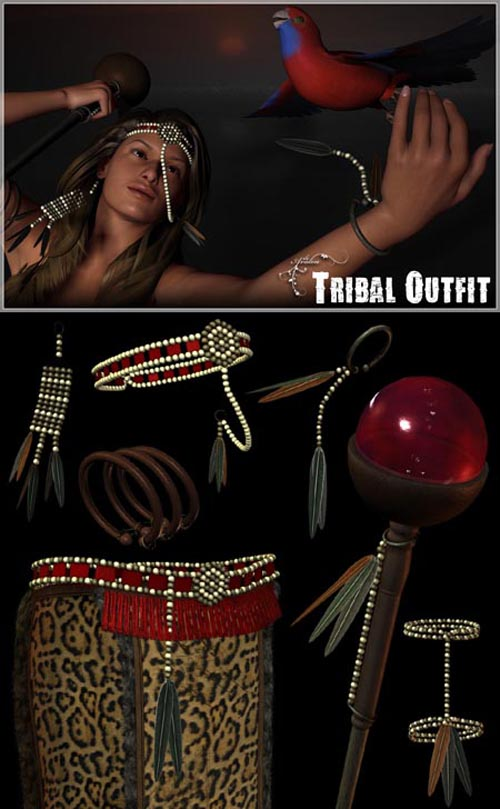 Renderosity - Daz/Poser Tribal Outfit