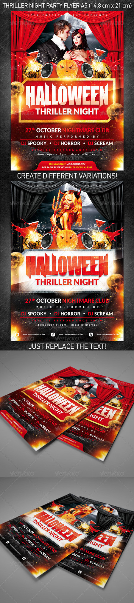 GraphicRiver Halloween Thriller Night Party Flyer