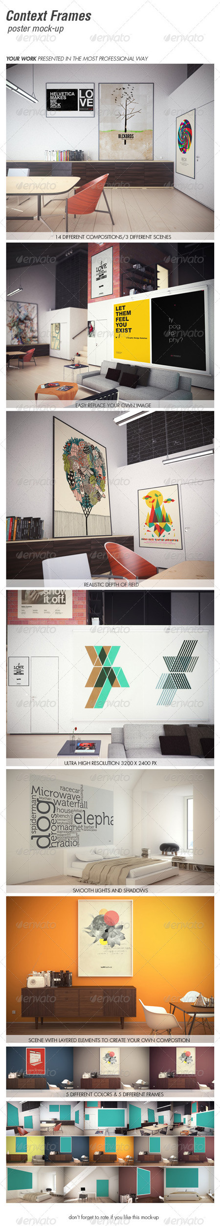 GraphicRiver CONTEXT FRAMES poster mock-up vol. 2