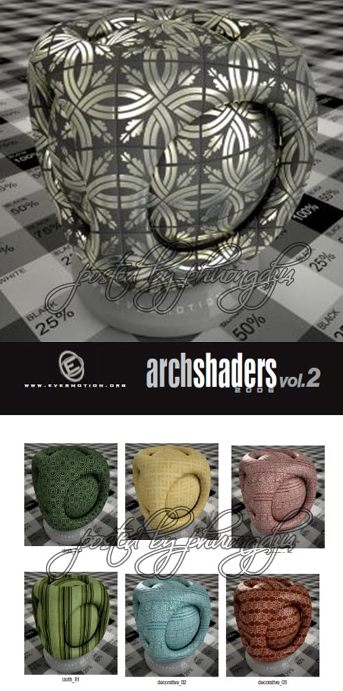 EVERMOTI0N - Archshaders vol. 2 for V-RAY 材质库