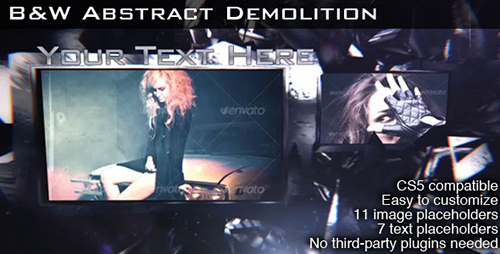 B&W Abstract Demolition - VideoHive After Effects Project