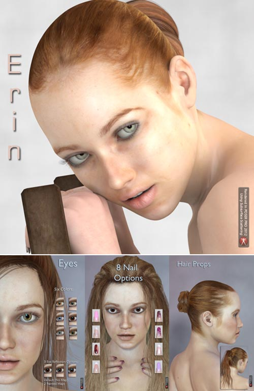 Renderosity Daz3D Erin for V4.2 and Genesis