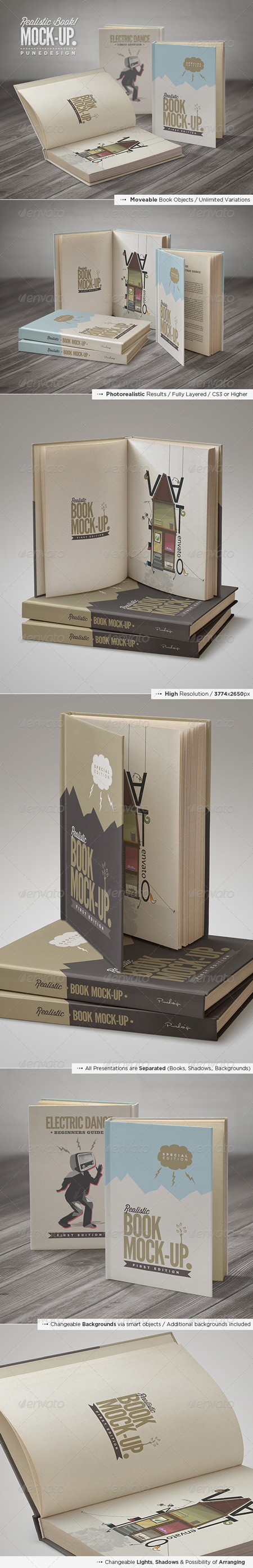 GraphicRiver Book Mock-Up Set 5237157