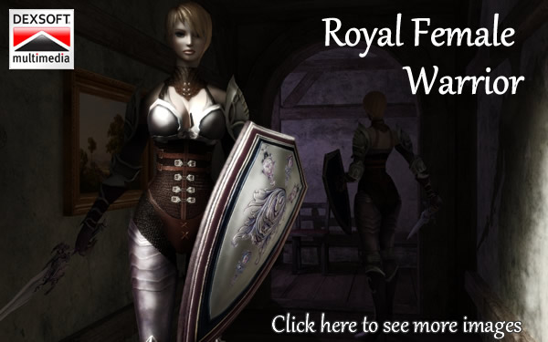 Royal Female Warrior animated character