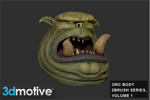 3DMotive - Orc Body ZBrush Series, Volume 1 with Stephen Wells