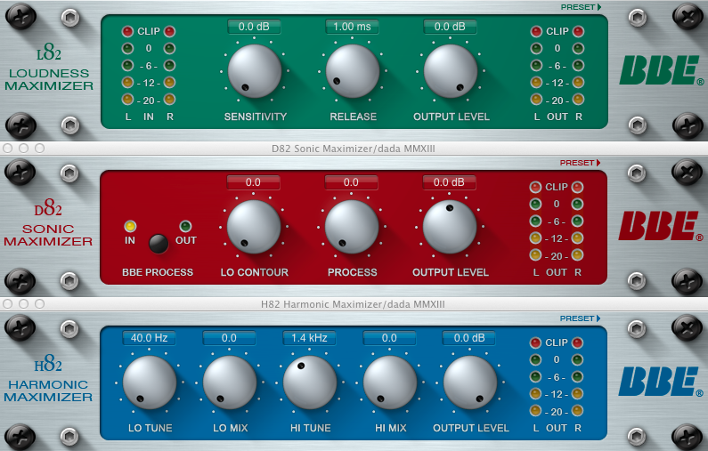 BBE Sound All Plugins Bundle VST AU RTAS v1.2 (Win / Mac OS X)