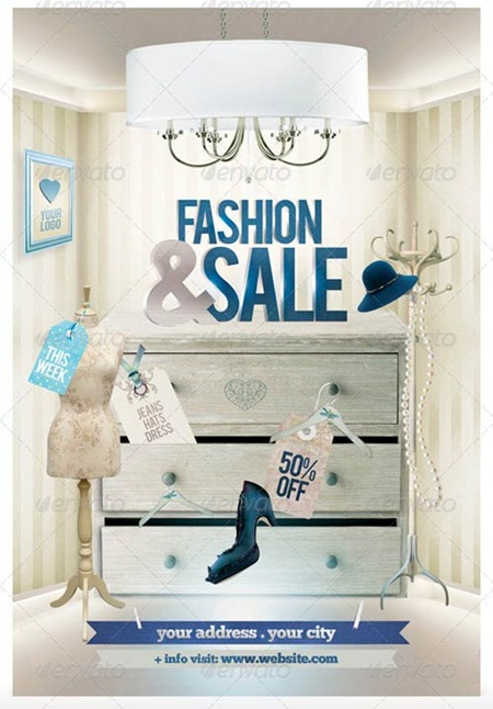 Fashion & Sale Flyer Template 时尚&销售传单模板