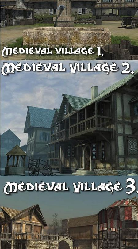 DEXSOFT: Medieval Village 1 2 3 Model Pack