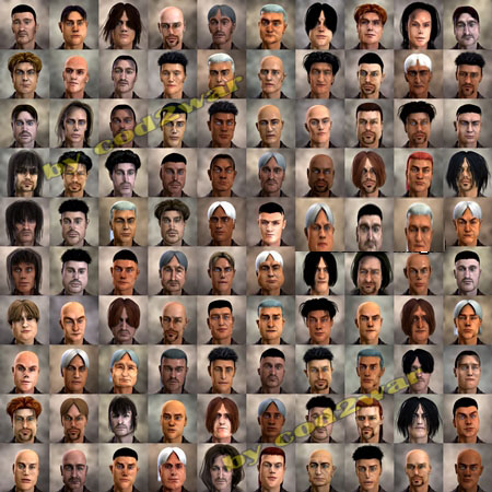 FaceGen Hair Models