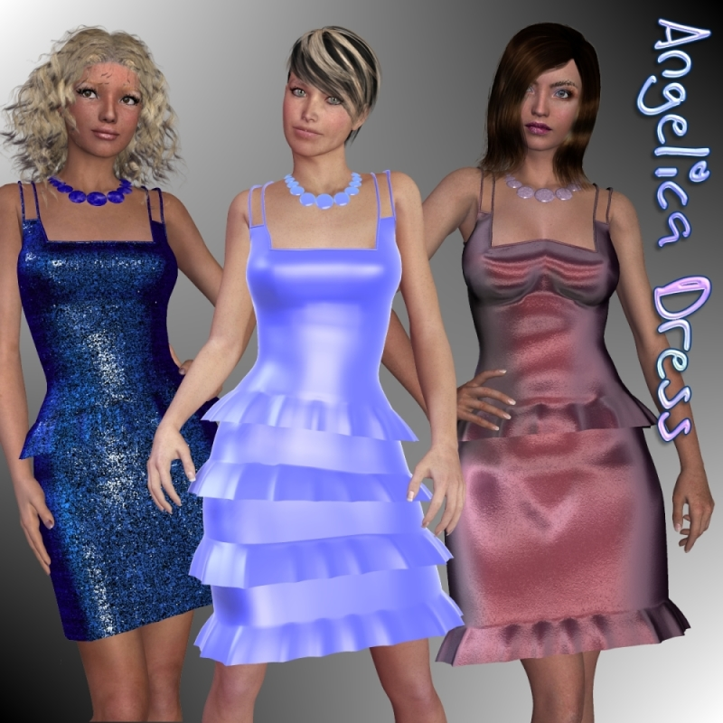 Angelica Dress and Necklace for V4-S4-Elite-A4-Alice