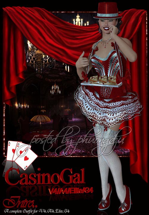 Renderosity CasinoGal V4/A4/Elite/G4