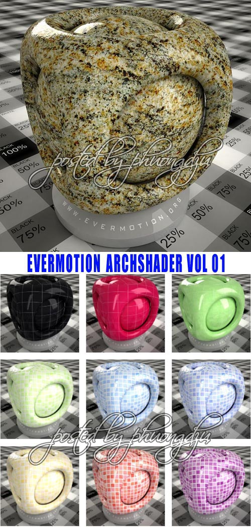 Evermotion Archshaders vol 1 for V-RAY