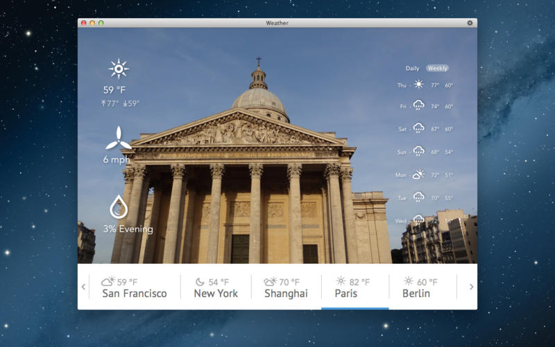 Weather Live v1.0 Mac OS X