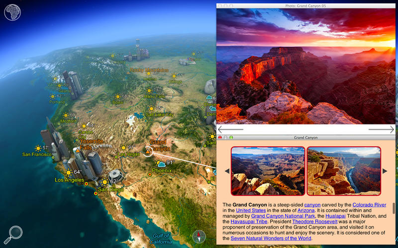 Earth 3D Amazing Atlas v1.1.0 Multilingual Mac OS X