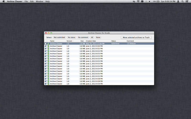 Archive Cleaner v1.0.1 Mac OS X