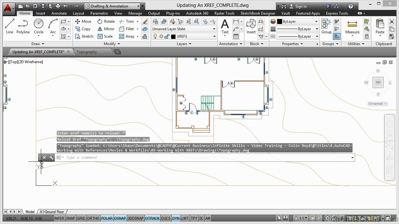 Infinite Skills - AutoCAD - Working With References Training Video