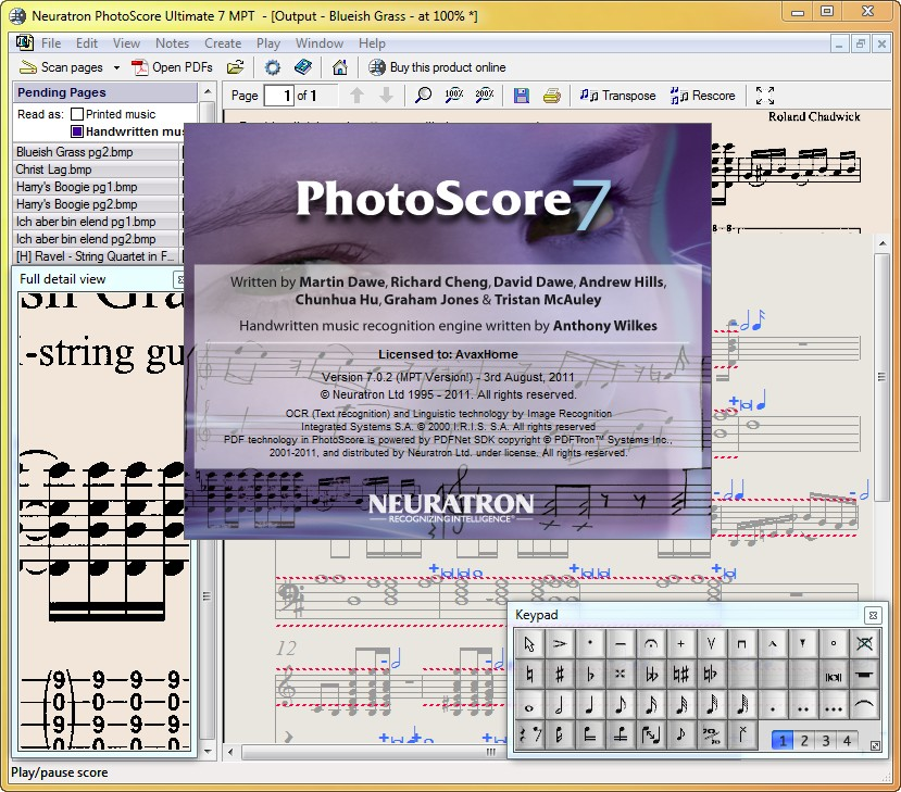 Neuratron PhotoScore Ultimate 7.0.2