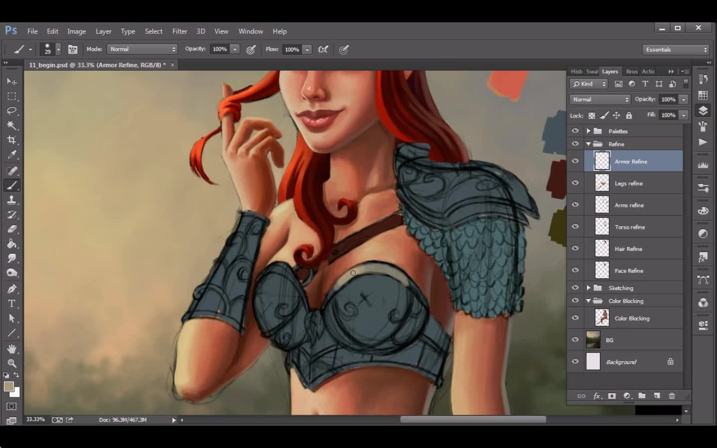 Kurt Jones - Illustrating a Fantasy Pinup in Photoshop