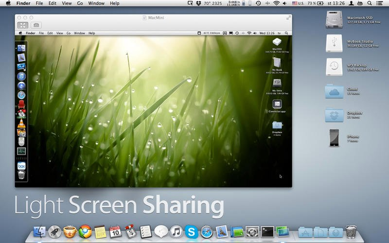 Light Screen Sharing v1.2.8 Mac OS X