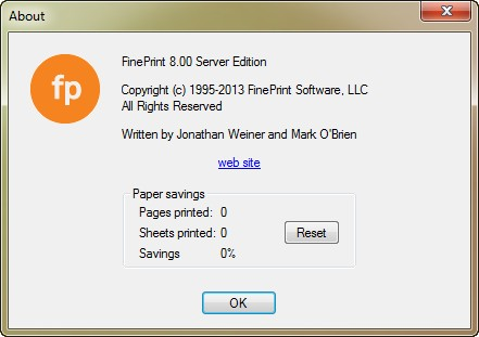 FinePrint 8.00 Server Edition