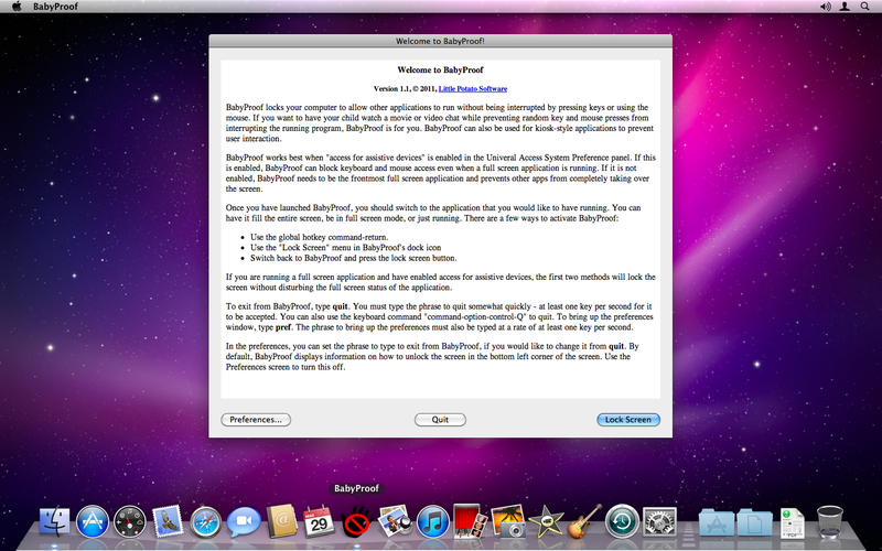 BabyProof v1.4 Mac OS X