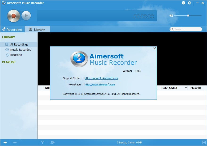 Aimersoft Music Recorder 1.0