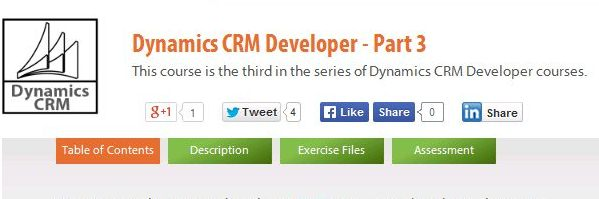 Dynamics CRM Developer - Part 3