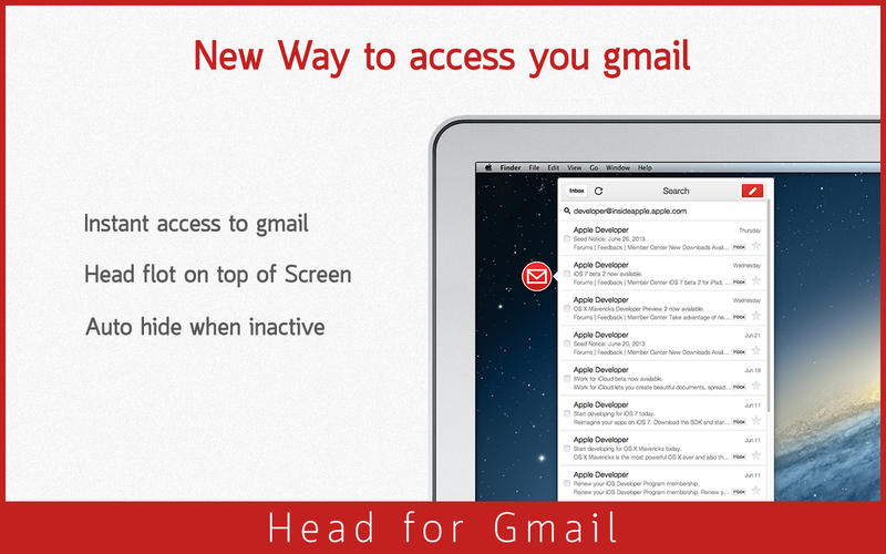 Head for Gmail v1.1 Mac OS X