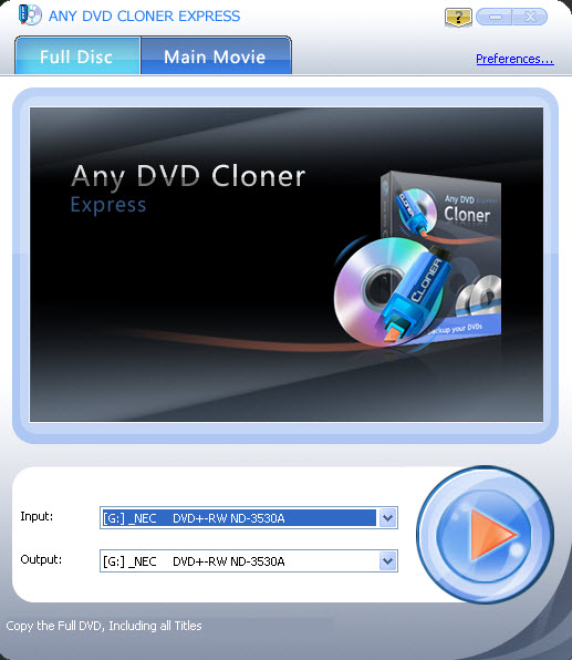 Any DVD Cloner Express 1.2.2