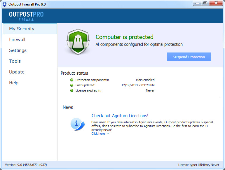 Outpost Firewall Pro 9.0.4535.670.1937 Multilingual (x86/x64)