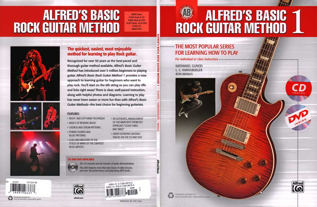 Alfred - Basic Rock Guitar Method 1 - CD/DVD (2013)