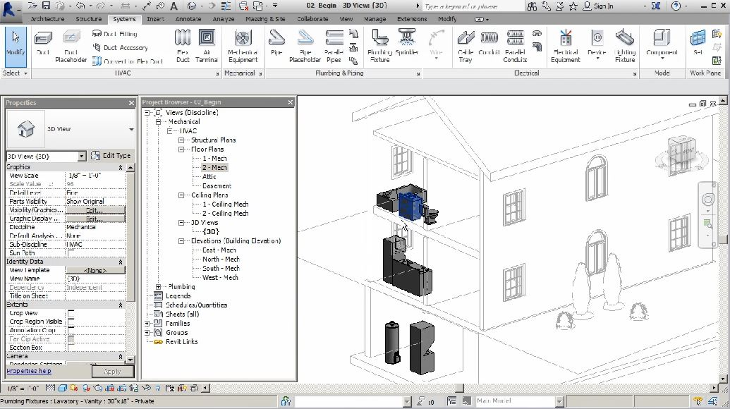 Modeling Plumbing Systems in Revit MEP